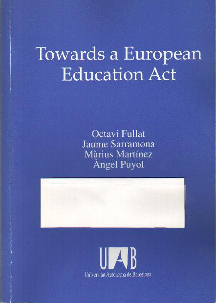 Towards a European Education Act (En colaboración)